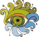 Eye. Fantastic green eye with long eyelashes Stock Photos