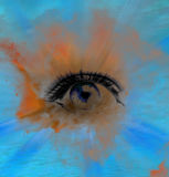 Eye abstract background, beautiful banner wallpaper design illustration Royalty Free Stock Photography