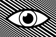 Eye abstract background. Black and white vector pattern Royalty Free Stock Image
