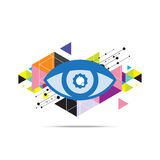 Eye abstract background design Royalty Free Stock Photos