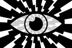 Eye abstract background. Black, gray and white vector pattern stock illustration