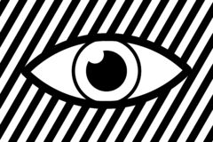 Eye abstract background vector illustration