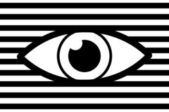 Eye abstract background royalty free illustration