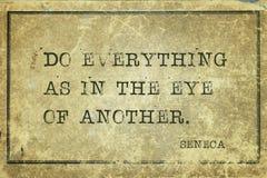 Eye of another Seneca Stock Photography