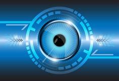 Eye arrow circle background Stock Images