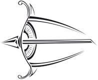 Eye with an arrow Stock Photography