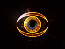 Eye of artificial intelligence royalty free illustration