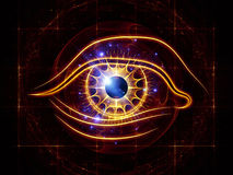 Eye of artificial intelligence vector illustration