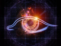 Eye of artificial intelligence vector illustration