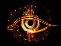 Eye of artificial intelligence Royalty Free Stock Photography