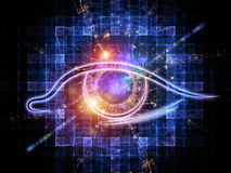 Eye of artificial intelligence Royalty Free Stock Photos