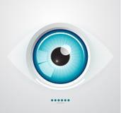 Eye background. Abstract glossy eye background. Eps10 Royalty Free Stock Photo