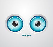 Eye background stock illustration