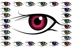 Eye background. A lot of color eyes Royalty Free Stock Photos