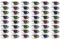 Eye background. A lot of color eyes Royalty Free Stock Image