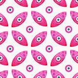 Eye background vector, Seamless abstract background vector. Geometric pink eyes ethnic background Stock Image