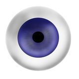 Eye ball. Eyeball isolated.Eyeball. An eye of blue color. A realistic eye stock illustration