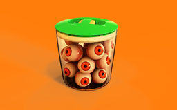 Eye ball halloween candy Stock Images