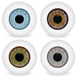 Eye ball set Royalty Free Stock Images