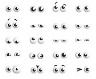 Eye balls. Series of eye balls with different emotions Stock Illustration