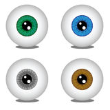 Eye balls in different colors Stock Photography