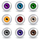 Eye balls. Set of multicolored eye balls Stock Illustration
