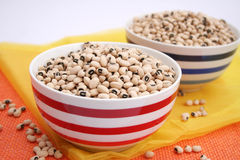 Eye Beans. Some exotic, dry eye beans in a bowl Royalty Free Stock Photo
