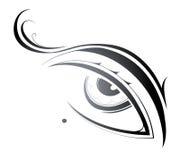 Eye of a beauty. Beautiful artistic female eye with birthmark Stock Photo