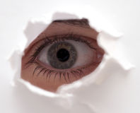 Eye of the beholder. Detail of eye Royalty Free Stock Photos
