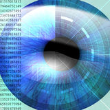 Eye being scanned Stock Photo
