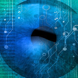 Eye being scanned Royalty Free Stock Photos