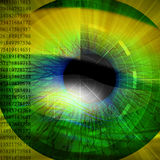 Eye being scanned Royalty Free Stock Image