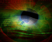 Eye being scanned Stock Image