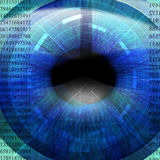 Eye being scanned Royalty Free Stock Photo