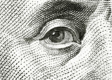 Eye of Benjamin Franklin Royalty Free Stock Photos