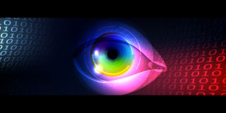 Eye, binary codes Stock Image