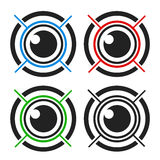 Eye biometric Royalty Free Stock Photos