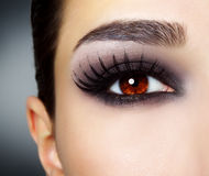 Eye with black make-up Royalty Free Stock Image