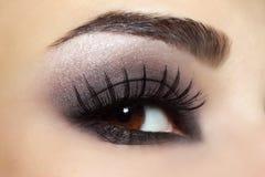 Eye with black make-up Stock Image