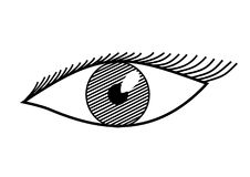 Eye in black and white. Illustration of a eye in black and white stock illustration