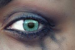 The eye with bleeding mascara Royalty Free Stock Image