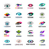 Eye blinker business icon glimmer template logo idea startup light company badge vector illustration Royalty Free Stock Image