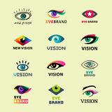 Eye blinker business vision daylight glimmer template logotype idea keeker light peeper company badge vector Royalty Free Stock Images
