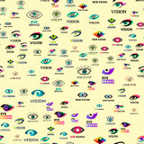 Eye blinker seamless pattern vision daylight glimmer template keeker light peeper company vector illustration Royalty Free Stock Photography