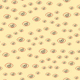Eye blinker seamless pattern vision daylight glimmer template keeker light peeper company vector illustration Royalty Free Stock Image