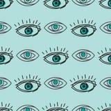 Eye blinker seamless pattern vision daylight glimmer template keeker light peeper company vector illustration. Eye blinker seamless pattern daylight glimmer Royalty Free Stock Photo