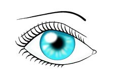Eye blue color stock images