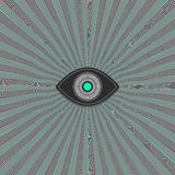 Eye. Blue icon - vector background Royalty Free Stock Photo