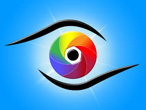 Eye Blue Represents Color Swatch And Colour Stock Photos