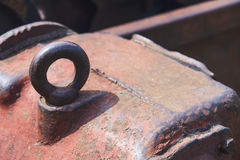 Eye bolt. The eye a bolt on a reducer also served for raising of the mechanism Royalty Free Stock Photo